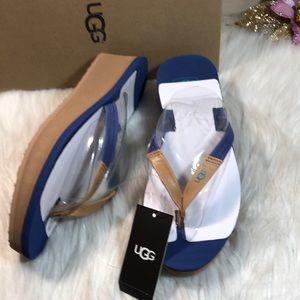 UGG® Ruby Wedge Flip-Flop Sandals 7